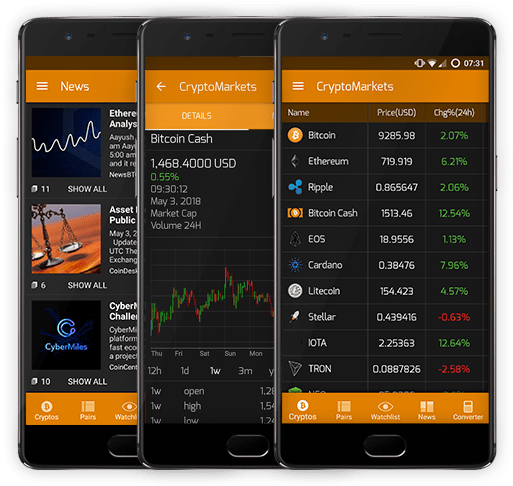 CryptoMarkets App Preview